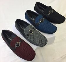 MEN GIOVANNI DRESS SHOE LOAFER CASUAL STYLE SLIP-ON WHITE BLUE RED BLACK M788-61