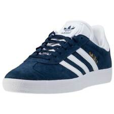 adidas Gazelle Womens Blue Suede Casual Trainers Lace-up Genuine Shoes