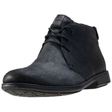 Camper 1913 Mens Black Leather Casual Chukka Boots Lace-up Genuine Shoes