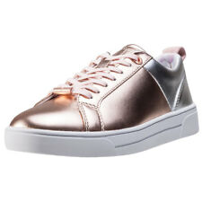 Ted Baker Kulei Womens Red Leather Casual Trainers Lace-up Genuine Shoes