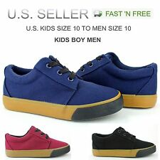 Kids Boys Men Canvas Shoes Vulcanized Rubber School Athletic Sneakers Skateboard