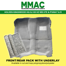 MOULDED CAR CARPET (G28) HOLDEN KINGSWOOD HQ HJ HX HZ WB MONARO UTE&P/VAN F&R&UL