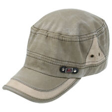 Fashionable Unisex Flat Top Hat Cadet Cap with Adjustable Strap