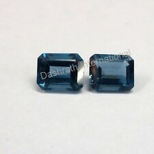 Natural London Blue Topaz Octagon Cut 6x4mm To 8x10mm Calibrated Size Gemstone