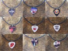 High Quality Band Logo Celluloid Guitar Pick Necklace,Classic Rock, Many Designs