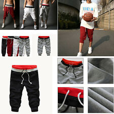Mens Boys Elasticated Waist Casual Jogging Sports Shorts Pants Trousers Men's