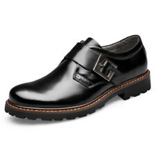 Mens Strap Loafers Synthetic leather Buckle Slip On Casual Dress oxford Shoes