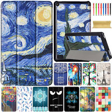 """Smart Pattern Leather Case Stand Cover for Amazon Kindle Fire 7"""" (7th Gen) 2017"""