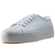Fred Perry Phoenix Flatform Womens Trainers White White New Shoes