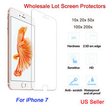 """100x Wholesale Genuine Tempered Glass Screen Protector for Apple iPhone 7 4.7"""""""