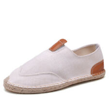 New Fashion Mens Slip On Breathable Flat Heel Shoes Loafers Comfy Summer Fabric