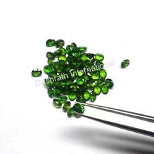Natural Chrome Diopside 3x4 mm to 6x8 mm oval Cut Calibrated Size Green Gemstone