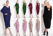 Ladies Womens Plus Size Long Cocktail Summer Backless Midi Dress New Baggy 8-26