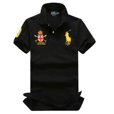 NWT SUPPORT CASUAL POLO MEN'S T-SHIRTS SHORTSLEEVE CREW NECK SIZE S M L XL XXL