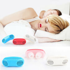 Silicone/ABS Nose Clip Stop Combo Sleeping Aid Breathing Grinding Snoring Device