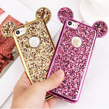Luxury 3D Mickey Mouse Case for iPhone 6 6S 7 Plus 5 5S 5SE Rhinestone Glitter B
