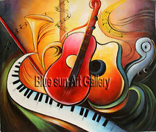 Wall Art Modern Home Décor Colorful Music Abstract oil painting on Canvas ABD176