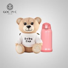 GOC IN C Cute Bear Thermos Mug Baby Bottle Stainless Steel Insulation Cup-NEW