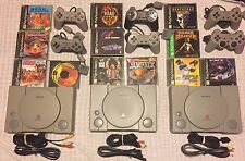 PS1 Console w/ 2 controllers & 4 games *Choose your own game bundle* PlayStation