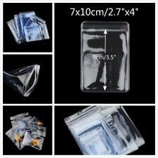 "2.7"" x 4"" Thick Grip Seal Poly PVC Plastic Self Resealable Packaging Bags"