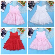 Flower Infant Baby Girls Birthday Wedding Lace Tutu Pageant Party Princess Dress