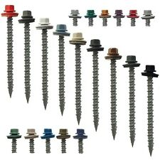 "METAL ROOFING SCREWS: 10x3"" (250) Colored Sheet Metal Roof Screw Siding Screws"