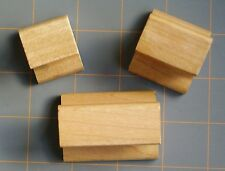 HANDLED WOOD MOUNTING BLOCKS for RUBBER STAMPS ~ 4 SIZES ~  YOU PICK ~ RECYCLED