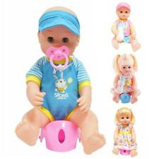 Realistic Training Drink & Potty Vinyl Baby Doll Boy/Girl Doll Kids Pretend Toy