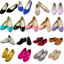 Womens Ballet Flats Ballerina Flip On Dolly Pumps Casual Shoes Loafers Moccasins