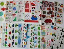 Mrs. Grossman sticker sheet You Choose - Christmas Holiday Winter A