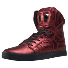 Supra Skytop II Metallic Foiled Mens Trainers Dark Red New Shoes