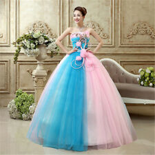 2017 Sweetheart Bridal Ball Gown Proms Wedding Dress Evening Party New Organza