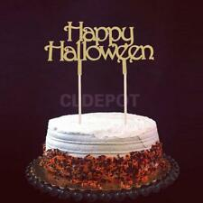 20pcs Glitter Happy Halloween Cake Toppers Halloween Party Decoration