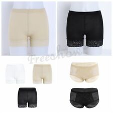 Womens Stretchy Seamless Tummy Control Lace Trim Shorts Pants Tiights Underwear