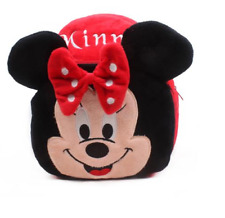 Children Girl School Bags Micky Minnie Mouse Plush Bagpack Kindergarden Backpack