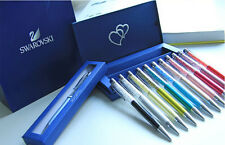 Crystalline Ball point New Swarovski pen logo Crystal Clear Pen with Box for Her