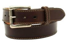 "Nocona Western Mens Belt Leather ""Ocala"" Made in USA Chocolate Brown N2300947"