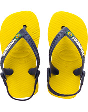 Havaianas Baby Brazil Sandals Toddler Infant Citrus Yellow Flip Flops NEW