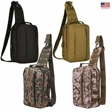 Tactical Laptop Backpack Casual Chest Shoulder Crossbody Bag Hunting Camping New
