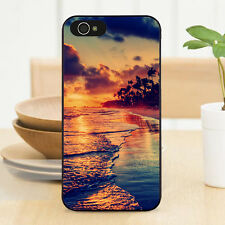 Hawaii Beach Palm Tree Sunset Hard Case Cover For iPhone 7 6s 5s 5c SE 4s 6 Plus