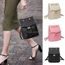 Fashion Women Soft Synthetic Leather Quilted Flap Drawstring Backpack NC89