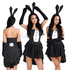 New Women Bunny Rabbit Dress Halloween Party Adult Girl Cosplay Role Play Outfit