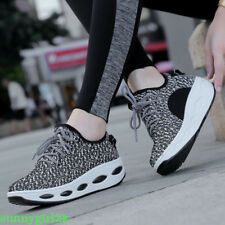 Women's Running Sneakers Sport Casual Lace Ladies Up Striped Trainers Shoes