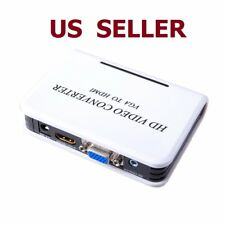 1080P Full HD HDTV Audio VGA to HDMI Video Converter Adapter Box for Laptop PC