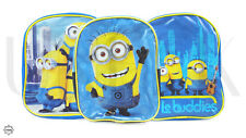 Kids Blue Minions Backpack from Despicable Me 2 - Boys Junior School Bag