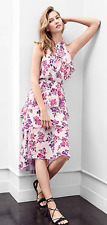 NWT Express Floral Print Tiered Halter Neck Midi Dress Value $70 Sold out SZ S/M