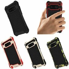 R-JUST Shockproof Metal Armor Carbon Fiber Case Cover For Samsung Galaxy Note 8