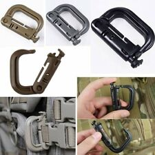 2 pcs MOLLE Locking D-ring Carabiner Hook Clip Tactical Grimloc Safety Buckle