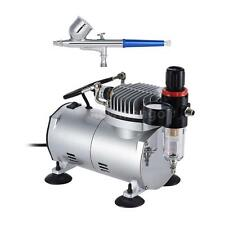 Gravity Feed Dual-Action AIRBRUSH SET KIT Air Compressor Hobby Cake Tattoo S3P2