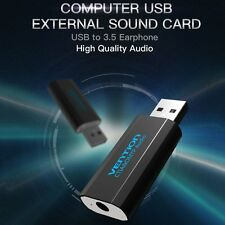 External Virtual USB 3D 2.1 Channel Stereo Sound Card Audio Adaptor Converter LN